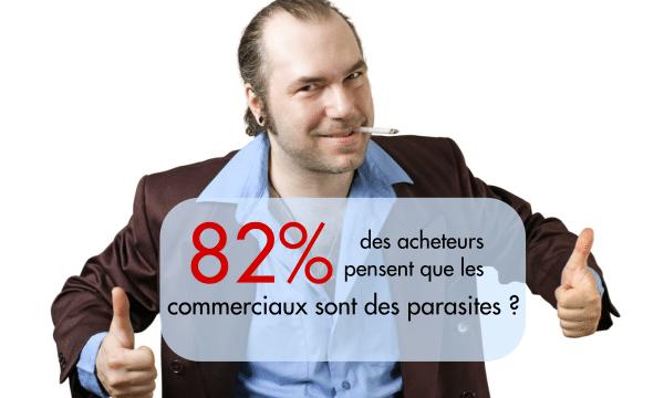 82% commerciaux sont parasites